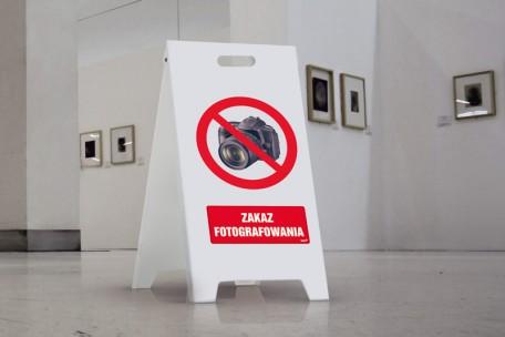 Stojak ze znakami - potykacz (dowolna grafika) - duży 50 x 80 cm
