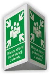 Znak przestrzenny miejsce zbiórki po ewakuacji z obiektu 3D - mały 25 x 31 cm