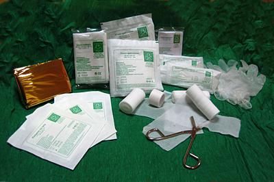 Wyposażenie do apteczki DIN 13164