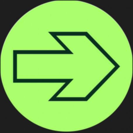 Znak ewakuacyjny Krążek ewakuacyjny (strzałka)