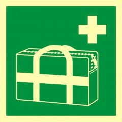 Znak ewakuacyjny Medyczna torba przenośna