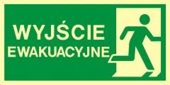 Znak ewakuacyjny  Kierunek do wyjścia ewakuacyjnego – w prawo