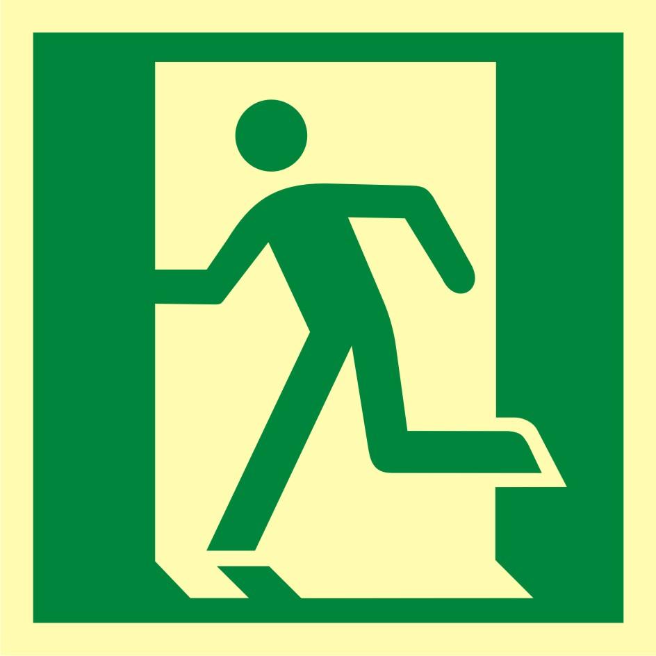 Znak ewakuacyjny Drzwi ewakuacyjne w lewo