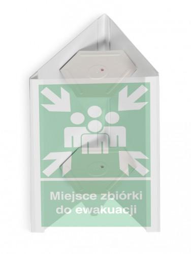 Znak przestrzenny 3D miejsce zbiórki do ewakuacji - duży 35 x 51,8 cm