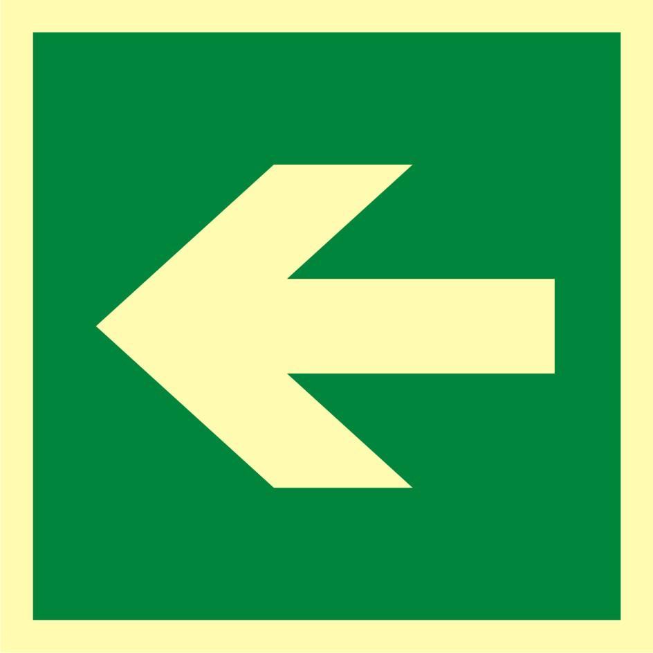 Znak ewakuacyjny Kierunek drogi ewakuacyjnej 2