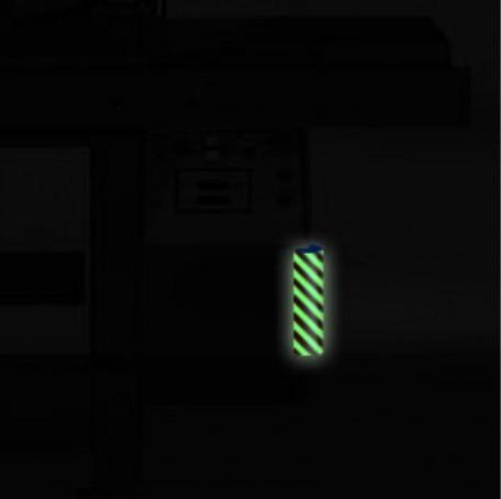 Profil ochronny fotoluminescencyjny czerwono - żółty 3