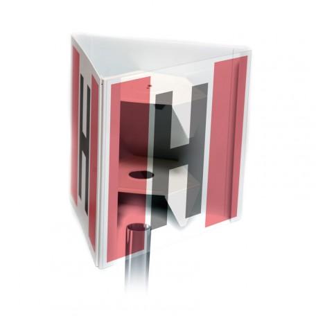 Znak przestrzenny 3D hydrant zewnętrzny przestrzenny - mały 25 x 25 cm
