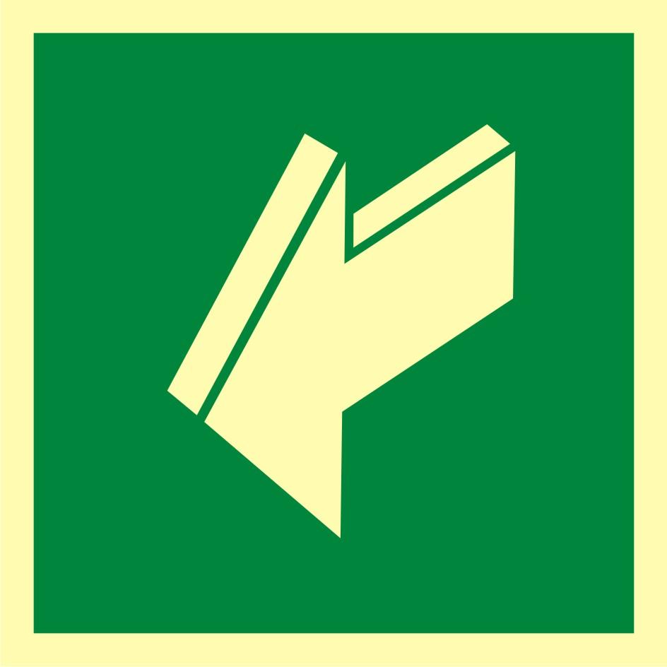 Znak ewakuacyjny Ciągnąć aby otworzyć
