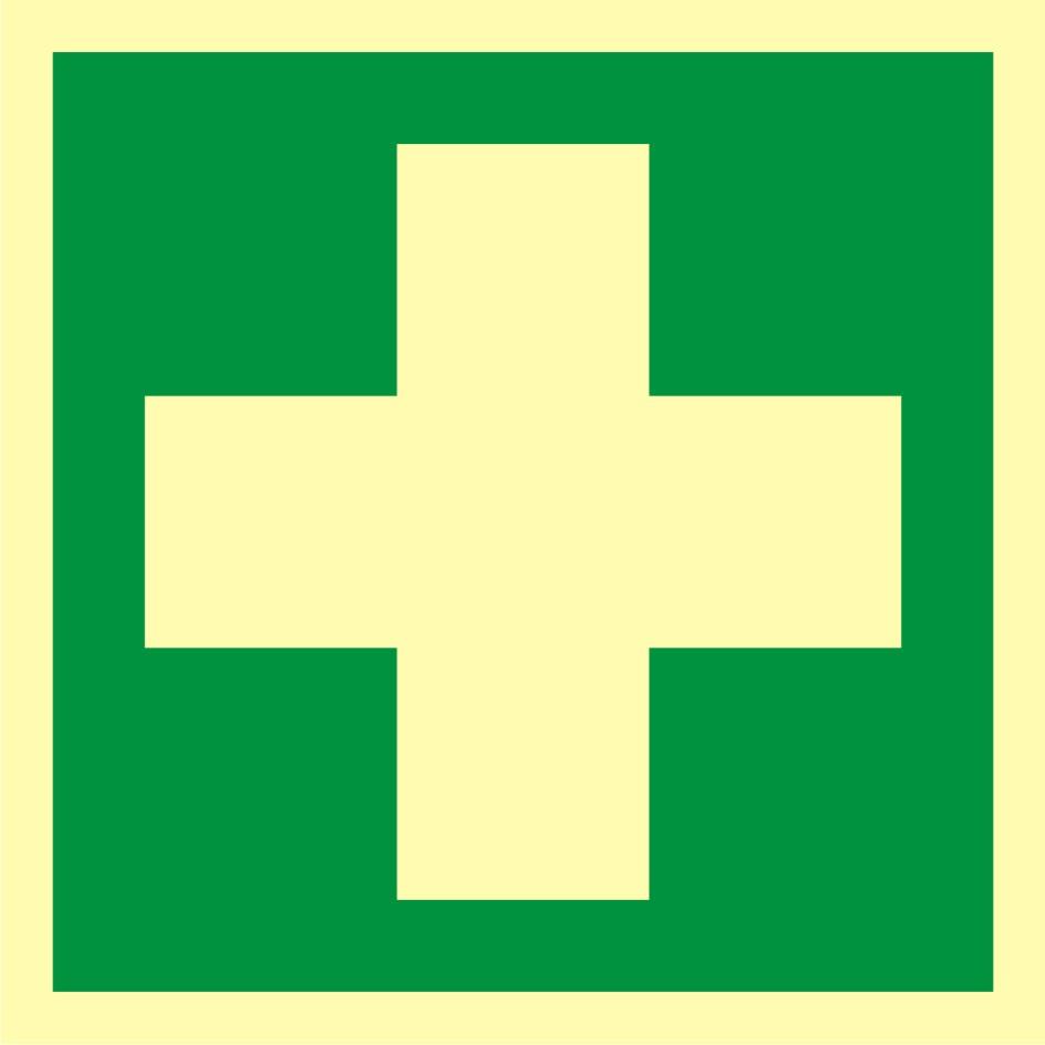 Znak ewakuacyjny Pierwsza pomoc medyczna