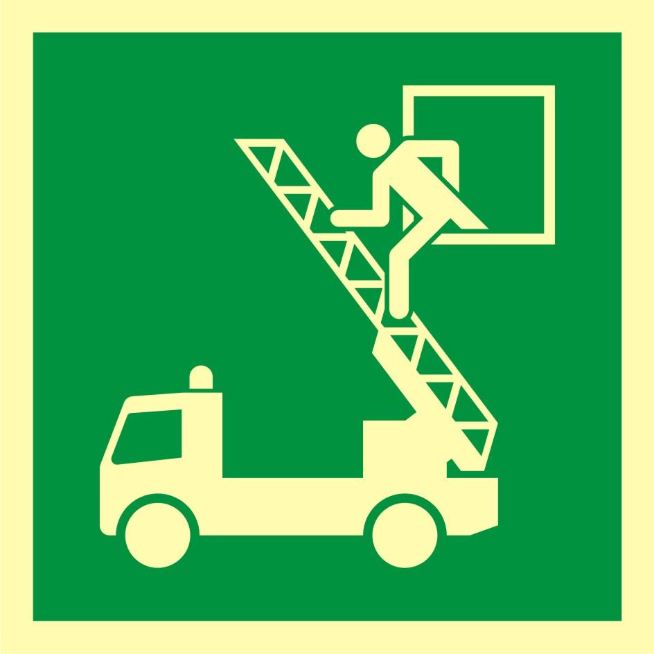 Znak ewakuacyjny Okno ratunkowe