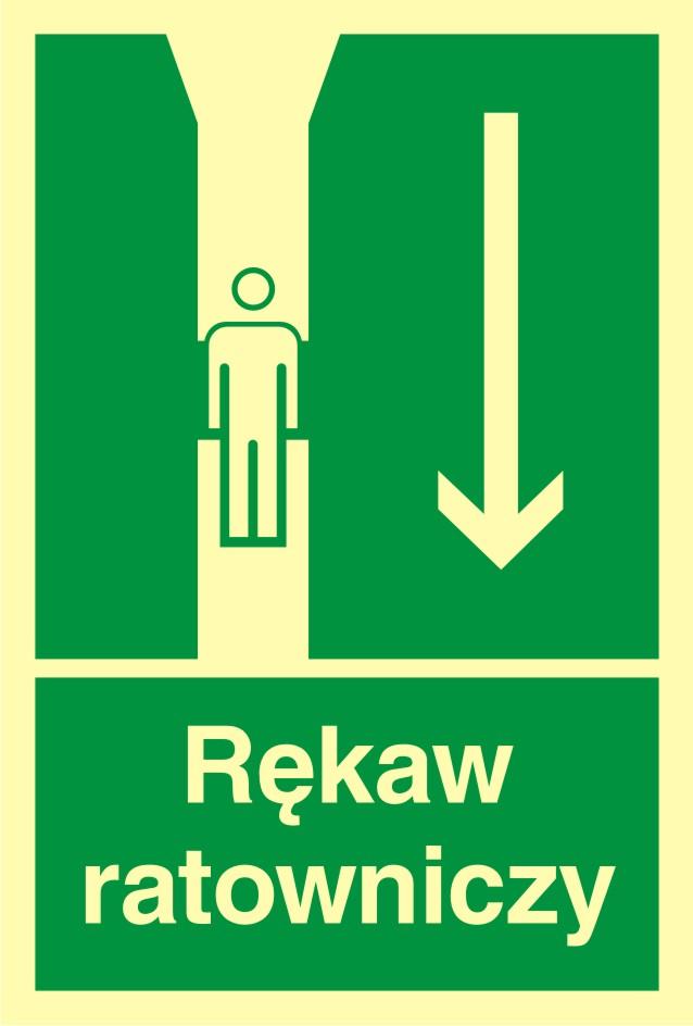 Znak ewakuacyjny Rękaw ratowniczy