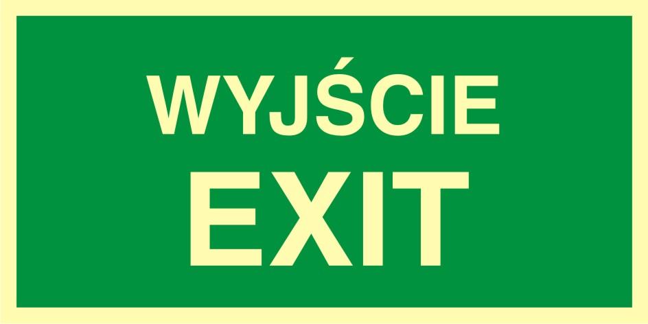 Znak ewakuacyjny Wyjście exit