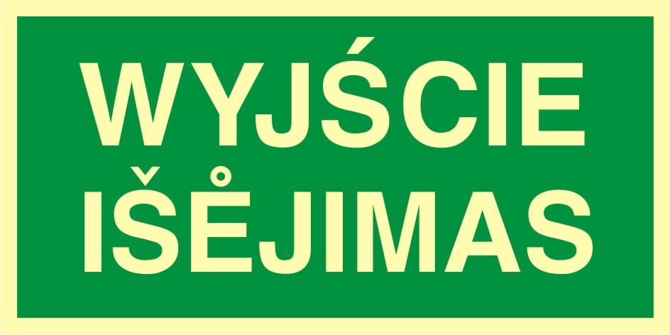 Znak ewakuacyjny Wyjście - Isejimas