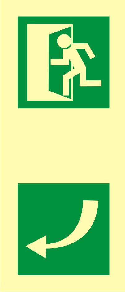 Znak ewakuacyjny Kierunek otwarcia drzwi