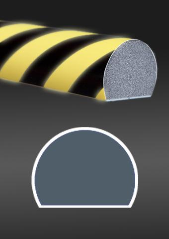 Profil ochronny fotoluminescencyjny czarno - żółty