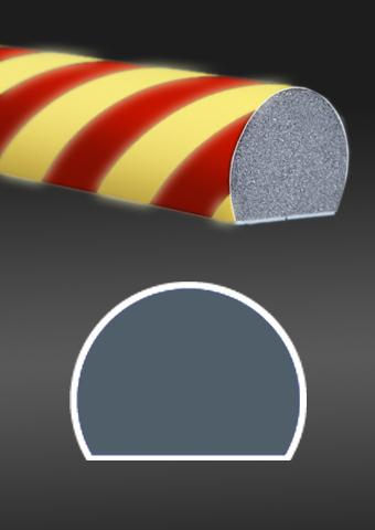 Profil ochronny fotoluminescencyjny czerwono - żółty
