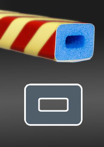 Profil ochronny fotoluminescencyjny czerwono - żółty 2