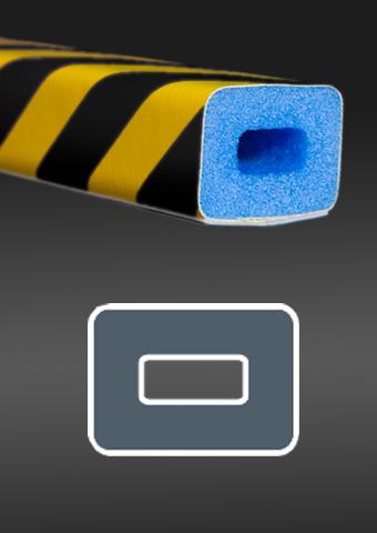 Profil ochronny ostrzegawczy czarno - żółty 2