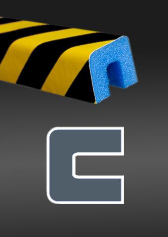 Profil ochronny ostrzegawczy czarno - żółty 4