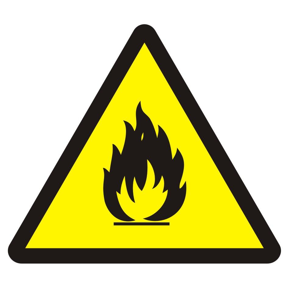 Znak przeciwpożarowy Niebezpieczeństwo pożaru - materiały łatwopalne