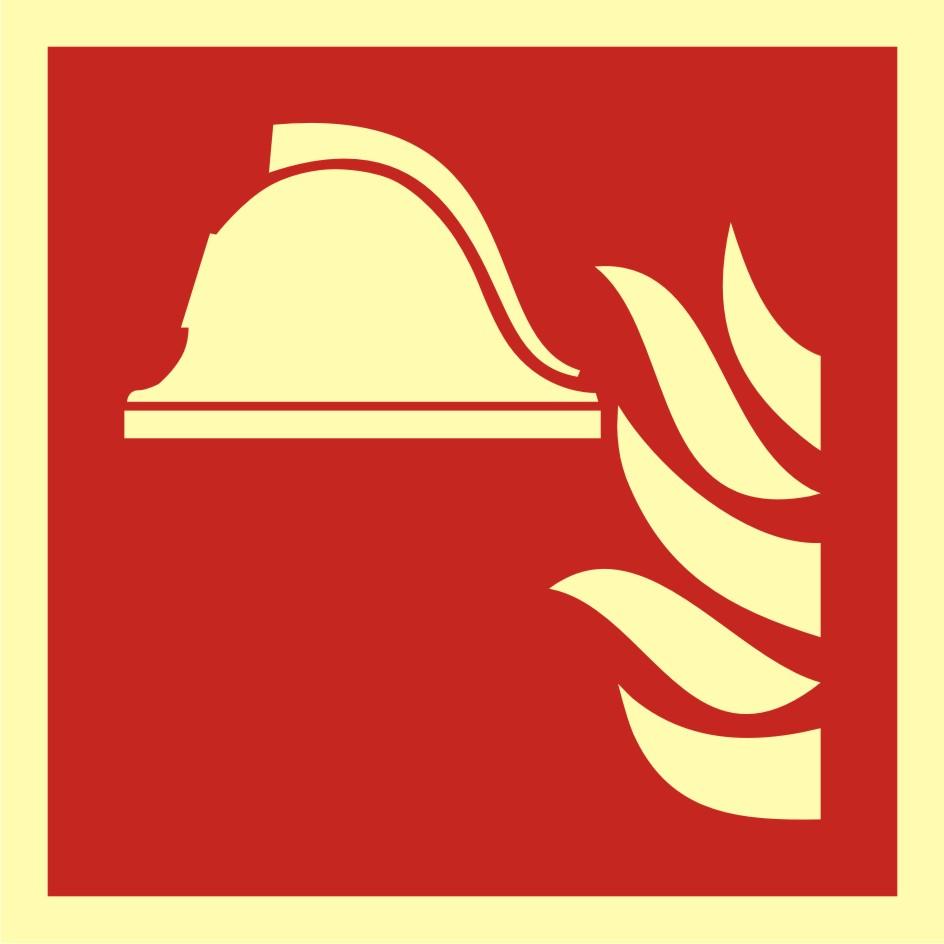 Znak przeciwpożarowy Zestaw sprzętu ochrony przeciwpożarowej