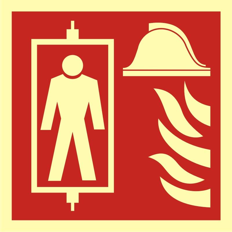 Znak przeciwpożarowy Dźwig dla straży pożarnej
