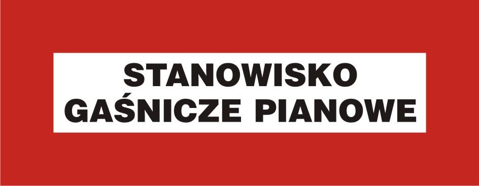 Znak przeciwpożarowy Stanowisko gaśnicze pianowe