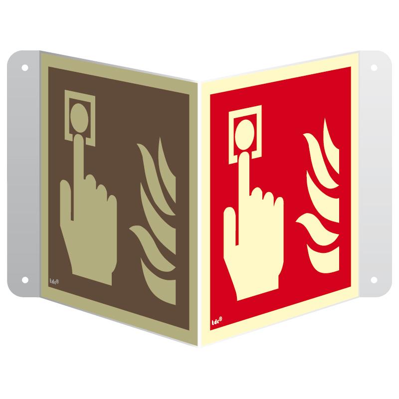 Znak 3D alarm pożarowy przestrzenny