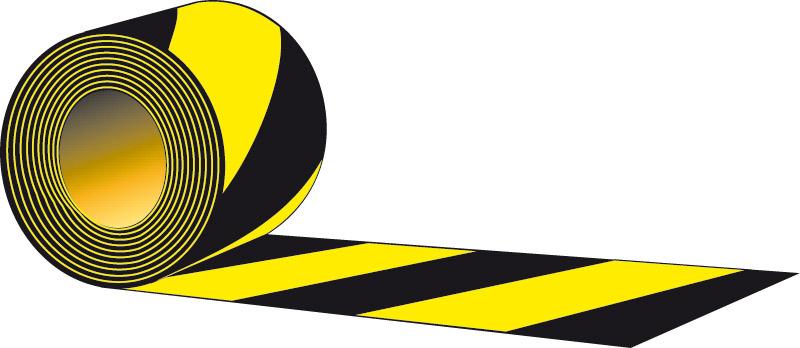 Taśma odblaskowa samoprzylepna żółto - czarna
