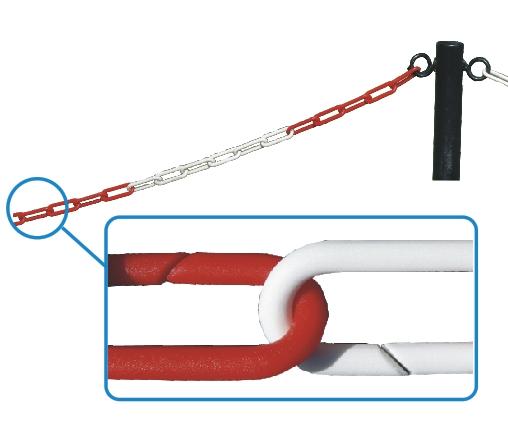 Łańcuch odgradzający czerwono - biały dł. 1m
