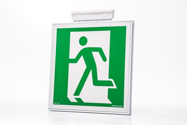 Znak ewakuacyjny Ramka na znak podstropowa dwustronna 20 x 20 cm