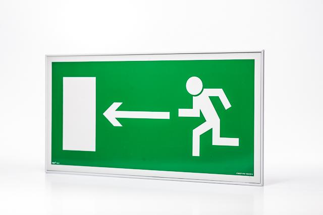 Znak ewakuacyjny Ramka na znak naścienna jednostronna 15 x 30 cm