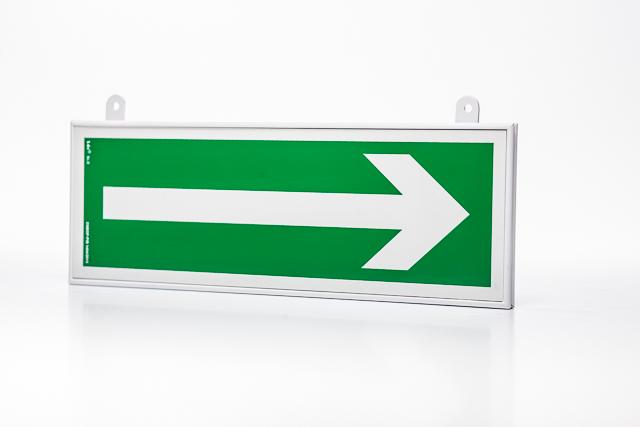 Znak ewakuacyjny Ramka na znak podwieszana dwustronna 10 x 30 cm