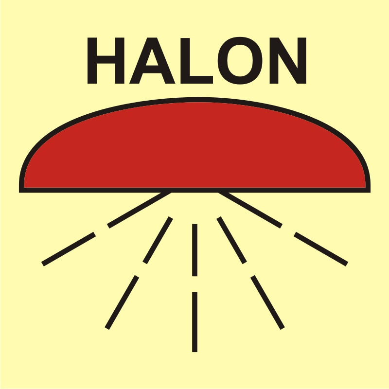 Rejon chroniony przez instalację halonu 1301