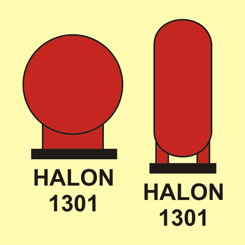 Butle halonu 1301 umieszczone w rejonie chronionym