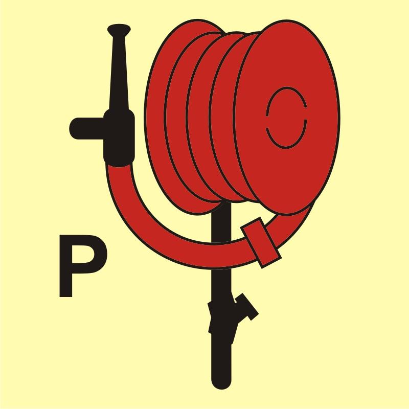 Wąż i prądownica instalacji gaśniczej proszkowej
