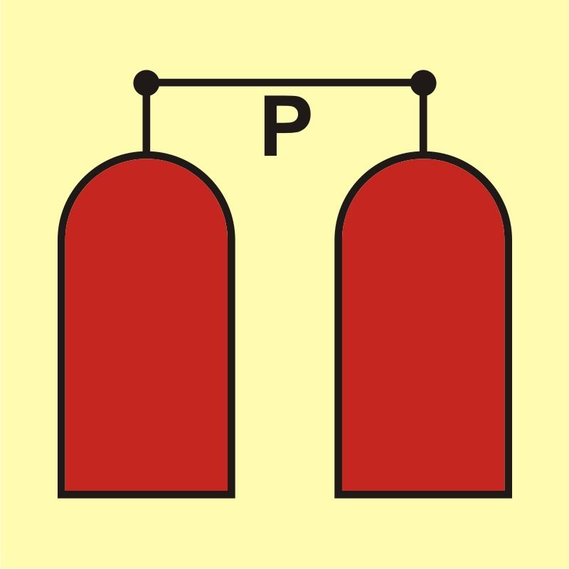Stanowisko uruchamiania gaśniczej instalacji proszkowej
