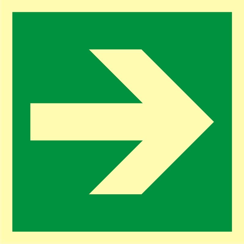Kierunek drogi ewakuacyjnej 7