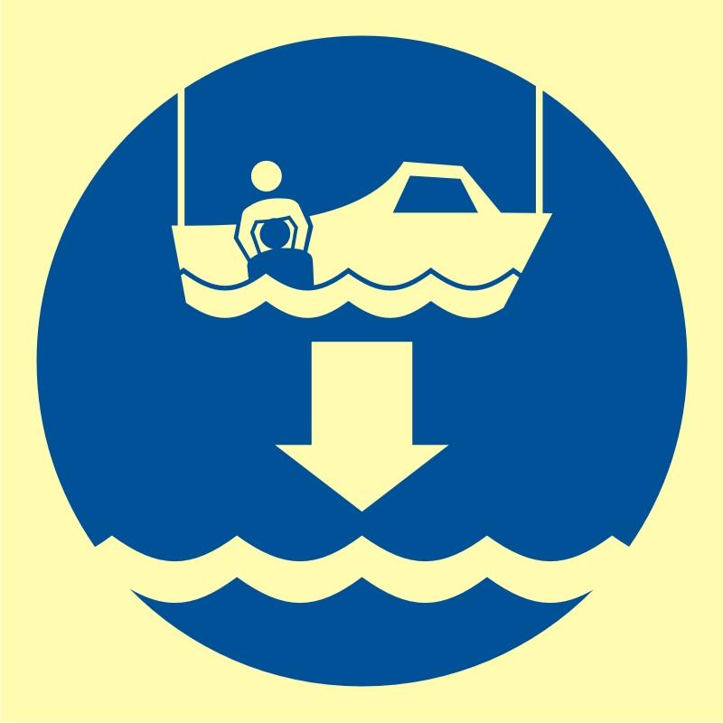 Opuścić na wodę łódź ratowniczą
