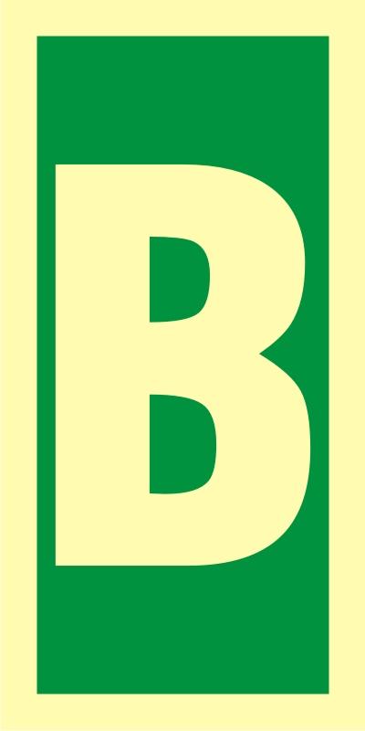 Symbol stacji ewakuacyjnych B