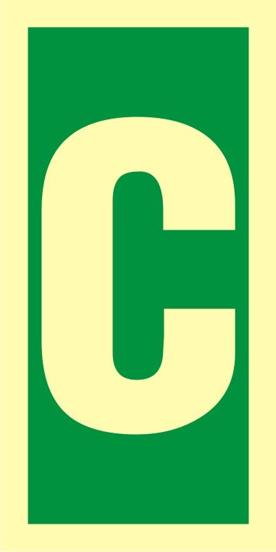 Symbol stacji ewakuacyjnych C