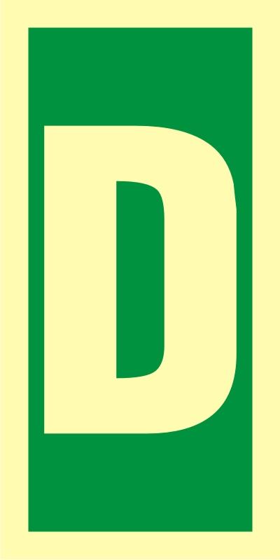 Symbol stacji ewakuacyjnych D