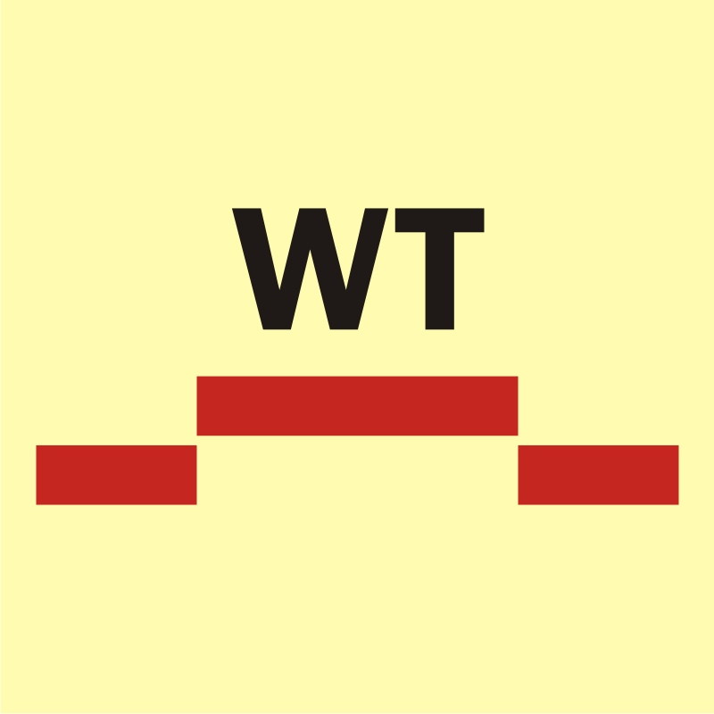 Drzwi przeciwpożarowe wodoszczelne przesuwne - kategoria A