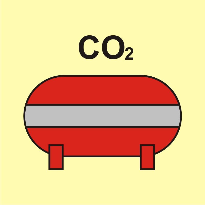 Zamocowana instalacja gaśnicza (CO2 - dwutlenek węgla)