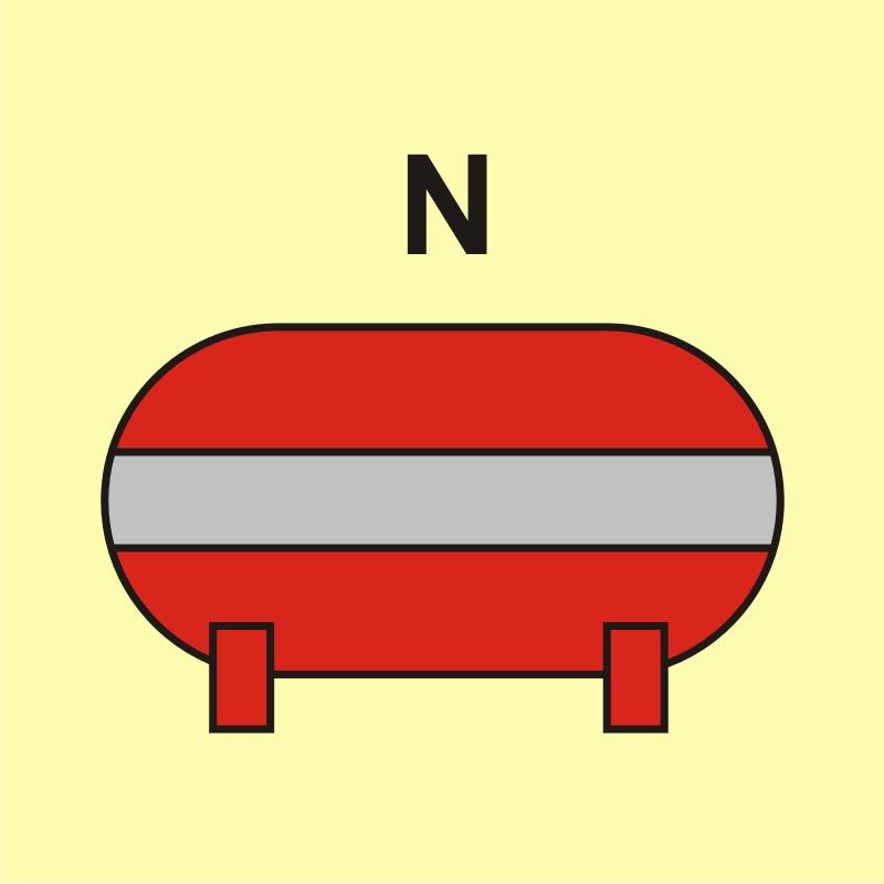 Zamocowana instalacja gaśnicza (N - azot)