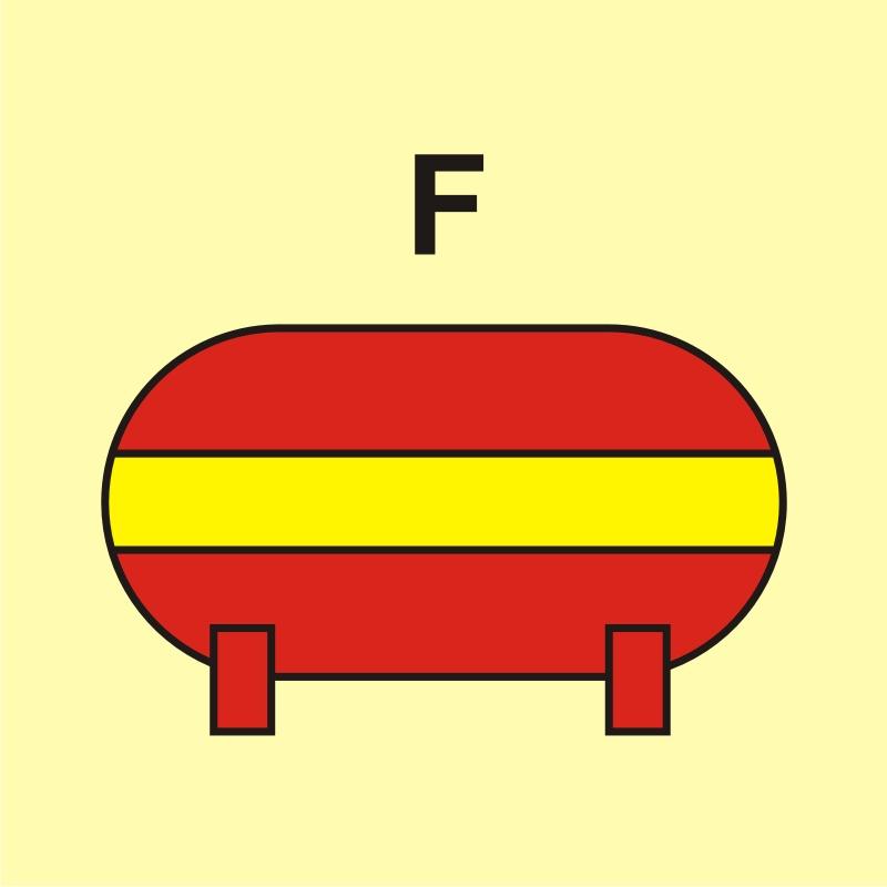 Zamocowana instalacja gaśnicza (F - piana)