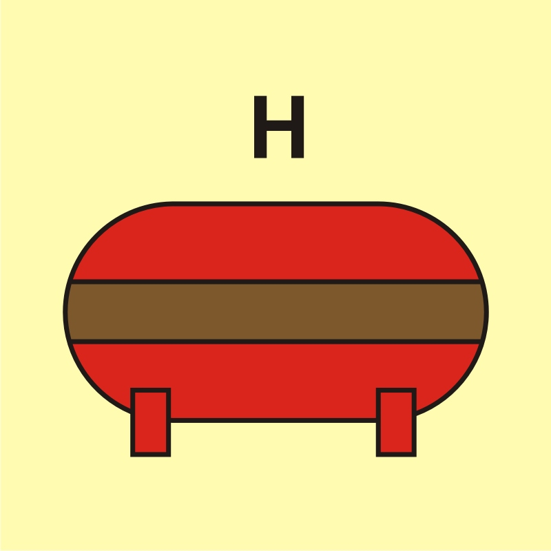 Zamocowana instalacja gaśnicza (H - gaz)