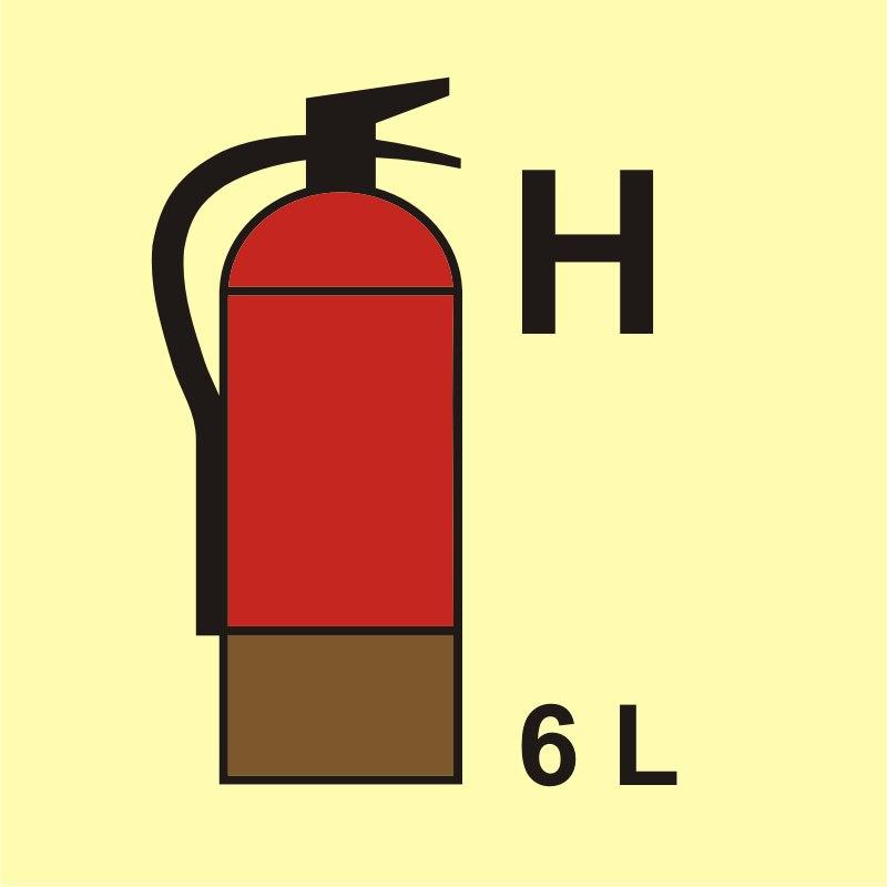 Gaśnica (H - gaz) 6L