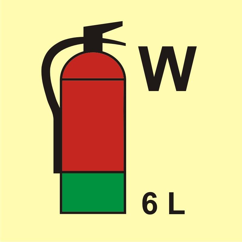 Gaśnica (W - woda) 6L