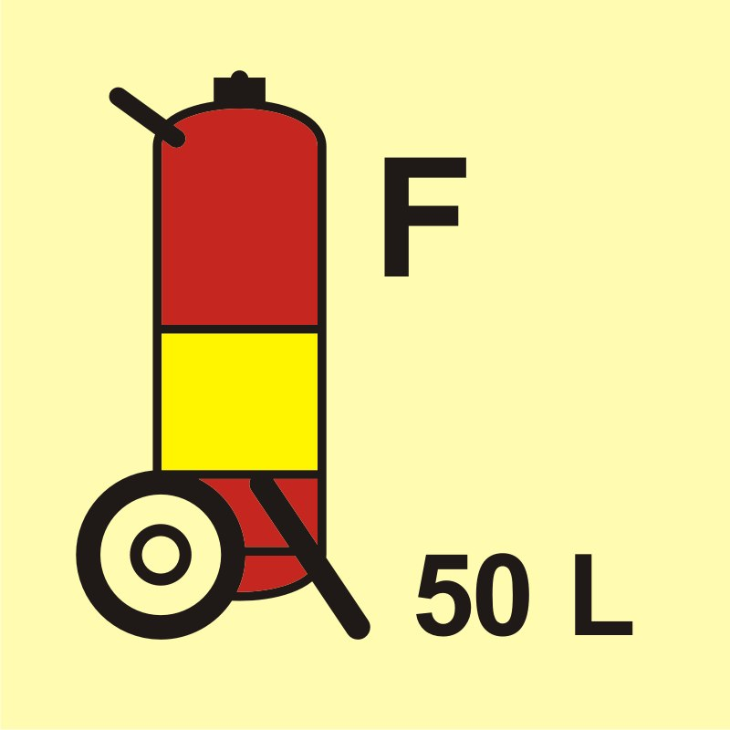 Gaśnica kołowa (F - piana) 50L